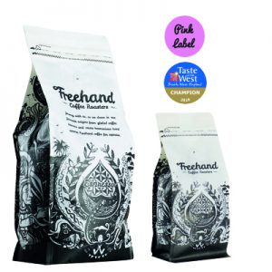 Freehand Pink Label Taste of the West Champion Hand Roasted coffee 1kg and 250g