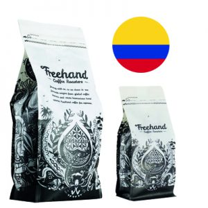 Freehand Colombian Single Origin Hand roasted coffee 1kg and 250g