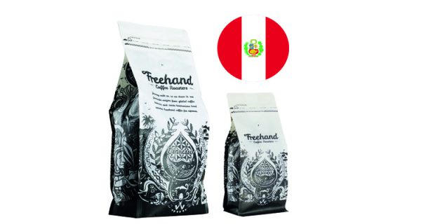 Freehand Hand Peruvian Single Origin roasted coffee 1kg and 250g