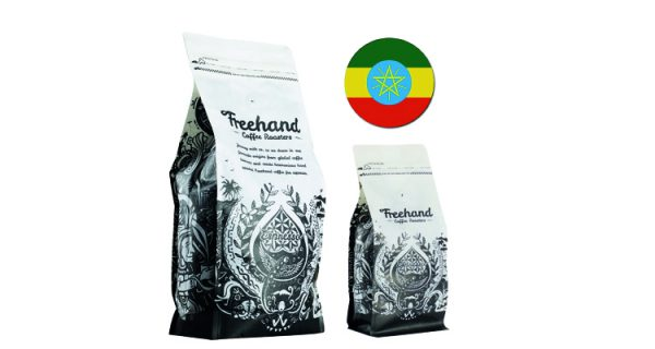 Freehand Hand Ethiopian Single Origin roasted coffee 1kg and 250g